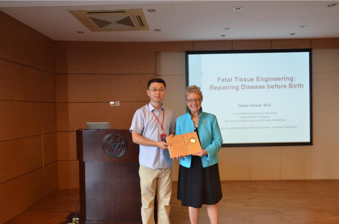得卓颜母公司首席科学家法默院士为浙江大学进行再生医学讲座